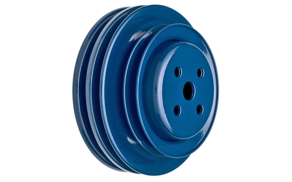 Ford Blue pulley For 289 with California smog pump . Powder coated Ford BLUE.