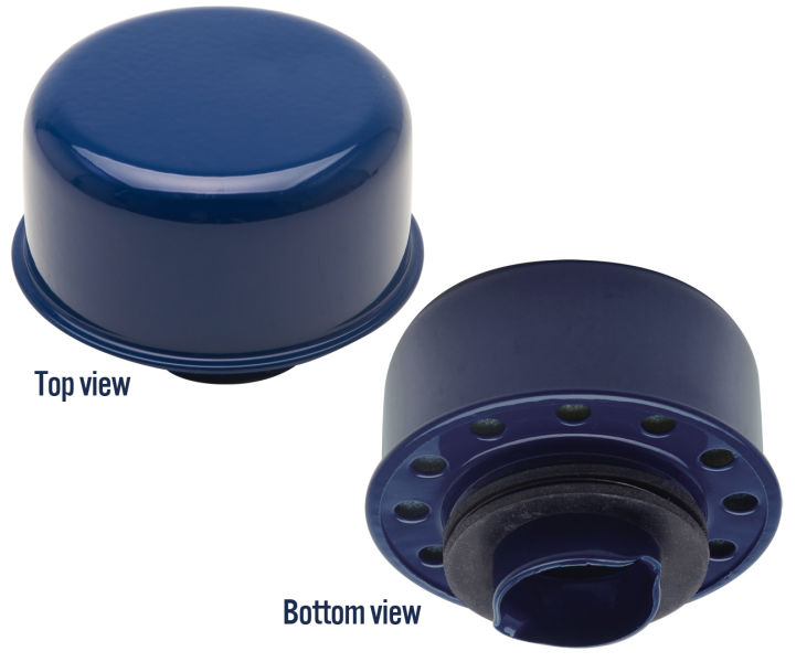 photo of ford blue twist-in breather cap