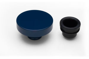 PUSH-IN Style Oil Cap; 1-1/4 in. Neck- FORD BLUE Powder Coated (ALUMINUM)