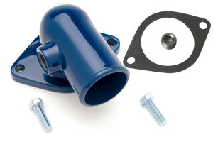 Water Neck; FORD 390, 427 and 428; Gasket Seal- FORD BLUE Powder Coat