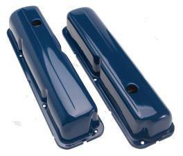 O.E.M. Style Valve Covers; Stock Ht.; FORD 352, 390, 406, 427 and 428-FORD BLUE