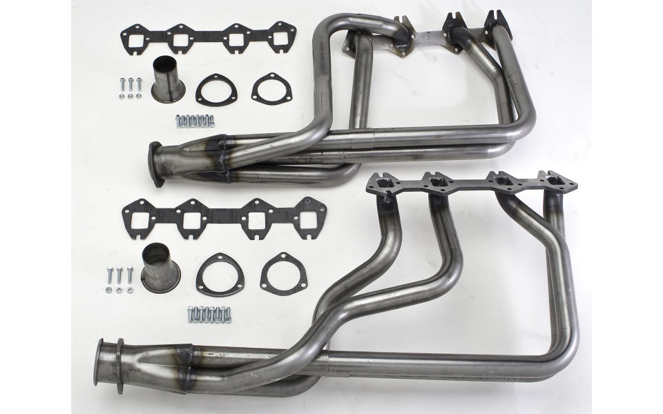 Photo of exhaust headers for 1966-69 Ford Torino and Mercury Cyclone 352-428.