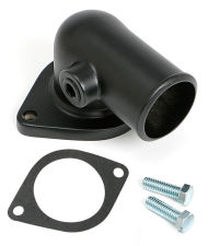 ASPHALT BLACK POWDER-COATED WATER NECK; FORD 390-428 (3/8 in. NPT PORT)