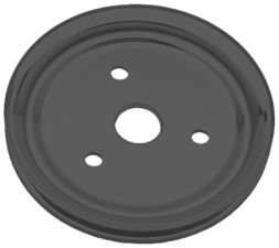 CRANKSHAFT Pulley; 1 Groove; CHEVROLET SB (55-68);SHORT Water Pump-ASPHALT BLACK