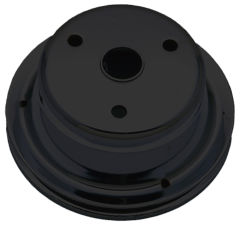 CRANKSHAFT Pulley; 1 Groove; CHEVROLET SB (69-85);LONG Water Pump-ASPHALT BLACK