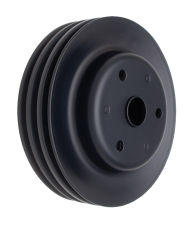 CRANKSHAFT Pulley; 3 Groove; CHEVROLET SB (69-85);LONG Water Pump-ASPHALT BLACK