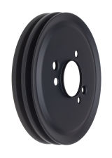 CRANKSHAFT Pulley; 2 Groove; CHEVROLET BB (65-68);SHORT Water Pump-ASPHALT BLACK