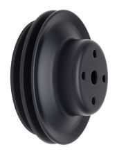 WATER PUMP Pulley; 2 Groove; CHEVY BB (69-06); LONG Water Pump- ASPHALT BLACK