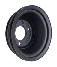 CRANKSHAFT Pulley; 3 Groove; CHEVROLET BB (69-06);LONG Water Pump-ASPHALT BLACK