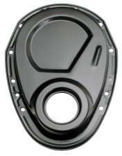 Asphalt BLACK Timing Chain Cover (only)- Chevy 4.3L V6 or SB V8 (not for LT1)
