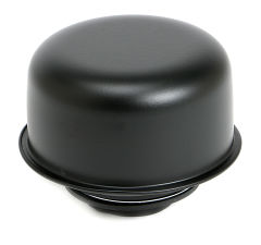 TWIST-IN Style Breather Cap; 2-3/4 in. Diameter- ASPHALT BLACK Powder Coated