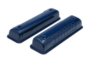 O.E.M. REPRODUCTION Design Valve Covers; 1956-1962 FORD Y-BLOCK- FORD BLUE
