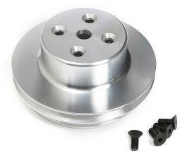 WATER PUMP PULLEY ALUMINUM BB CHEVY LWP MACHINED FINISH