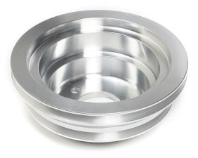CRANKSHAFT PULLEY ALUMINUM BB CHEVY LWP MACHINED FINISH