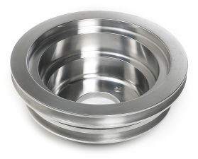 CRANKSHAFT PULLEY ALUMINUM BB CHEVY LWP POLISHED FINISH