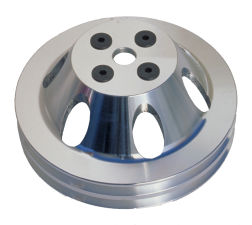 WATER PUMP Pulley; 2 Groove; 55-68 CHEVROLET 396-454; SHORT W/P- Mach. ALUMINUM