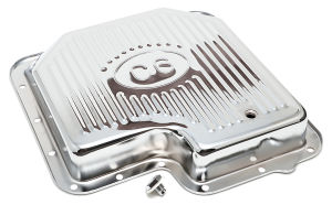 FORD C-6-CHROME Transmission Pan; Stock Capacity; Stock Depth; FINNED Bottom