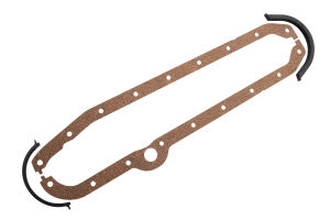 1980-85 Chevy 305-350 OEM-Style Oil Pan Gasket- Cork Rails/Rubber End Seals