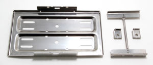 7-1/2 in. x 13-1/4 in. Battery Tray and Hold-Down-CHROME
