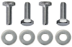 1/4 in.-20 x 1 in. HEX HEAD Valve Cover Bolts and Washers (set of 4)-CHROME