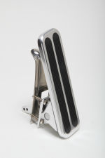 Floor Mount Gas Pedal w/ Inserts; 6-1/2 x 2 in.- Aluminum w/ Stainless mounting
