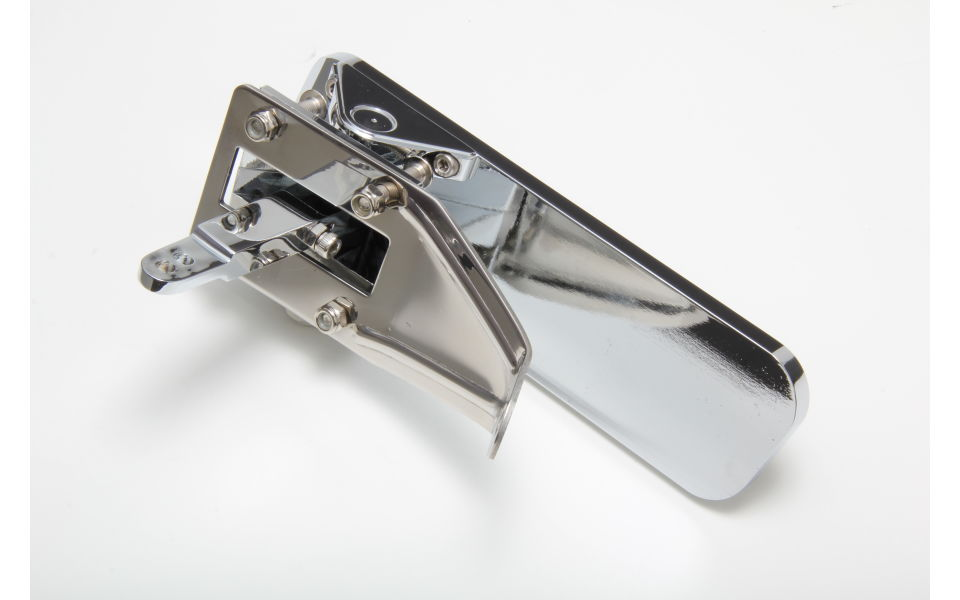 Back view of #9510 billet aluminum gas pedal
