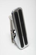 Floor Mount Gas Pedal w/ Inserts; 6-1/2 x 2 in.- CHROMED Aluminum and Stainless