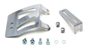 Throttle Cable Bracket Set; SB Chevy V8-CHROME