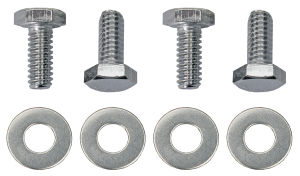 1/4 in.-20 x 3/4 in. HEX HEAD Valve Cover Bolts and Washers (set of 4)-CHROME