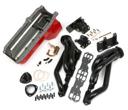 SWAP IN A BOX KIT-86-00 SBC INTO 82-04 2WD S10 ; BLACK HEADERS-1 3/4 in. TUBES
