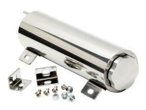 3 in. x 10 in. Radiator Overflow Tank; 36 Oz.- ALUMINUM