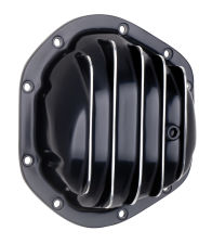 DANA 44 Style, Black Powder-Coated Aluminum Differential Cover w/ Polished fins