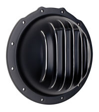 JEEP CORPORATE M20 Style; Aluminum Diff. Cover-Black w/Polished Fins