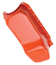 1986-00 Chevy 305-350 OEM-Style Oil Pan; CHEVY Orange (4 Qt)