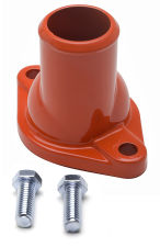 Water Neck; SB and BB Chevy; (O-Ring Seal); Straight-up design- CHEVY ORANGE
