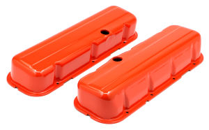 CHEVY 396-502 TALL ORANGE POWDER COATED VALVE COVERS