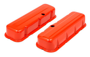 CHEVY 396-502 TALL ORANGE POWDER COATED BAFFLED VALVE COVERS